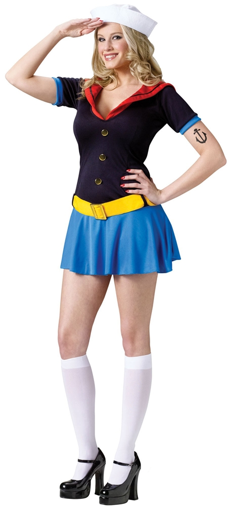 Miss Popeye Adult Womens Costume