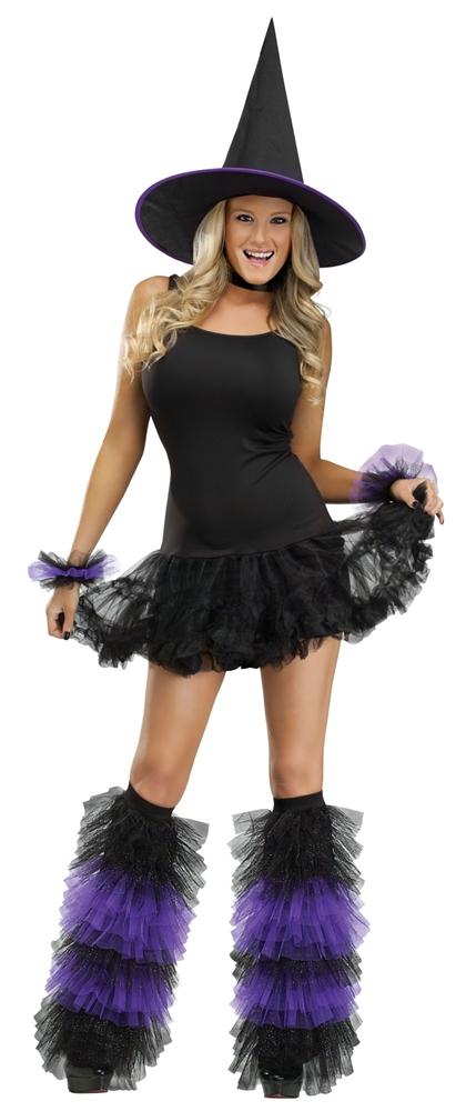 Glittered Black/Purple Boot Tops & Wristlets Set by Fun World