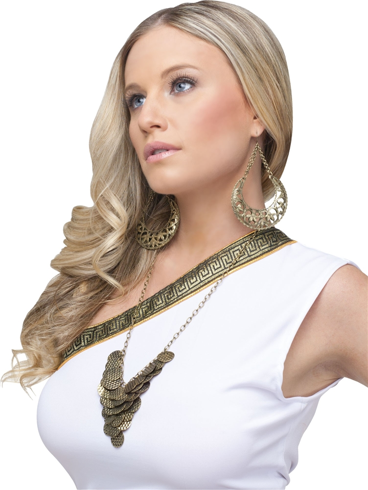 [Goddess Earring & Necklace Set] (Necklaces And Earrings)