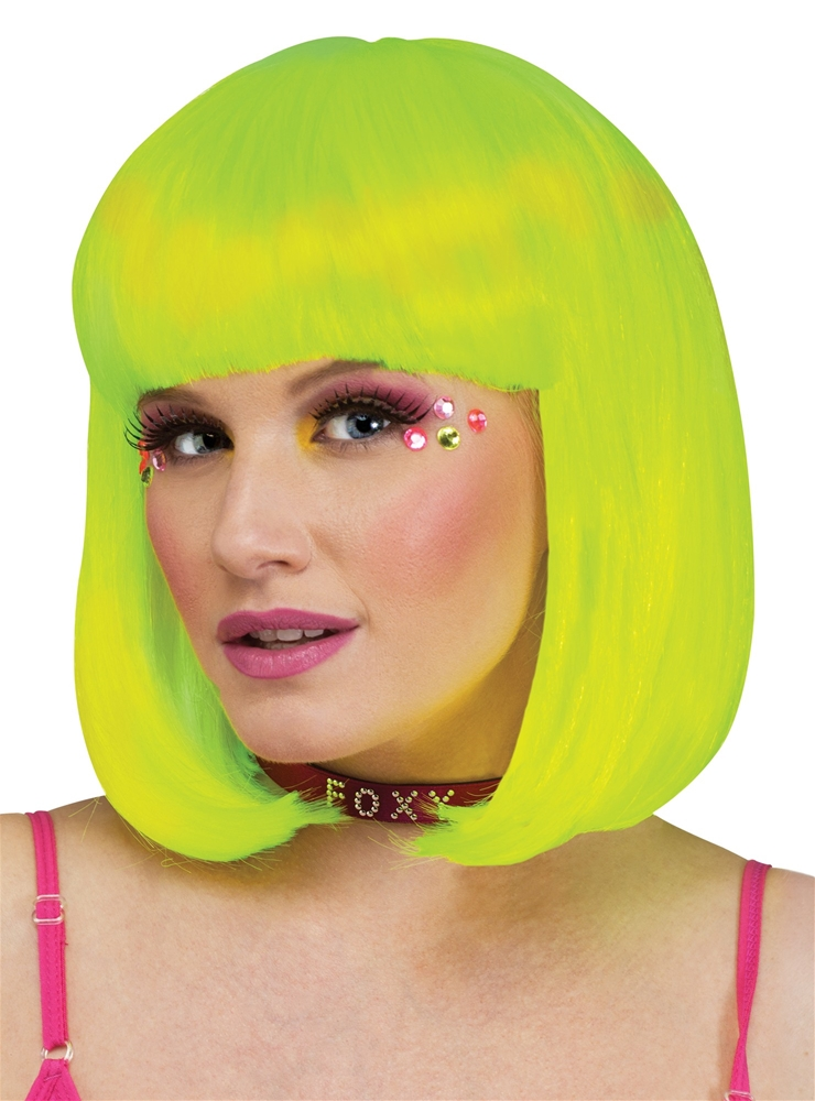 Blacklight Yellow Rave Wig