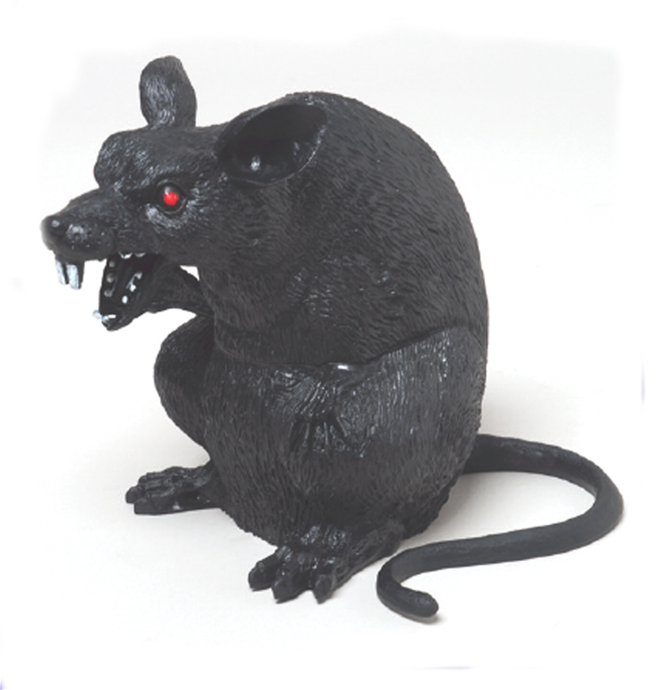 Image of Giant Sitting Black Rat 7in
