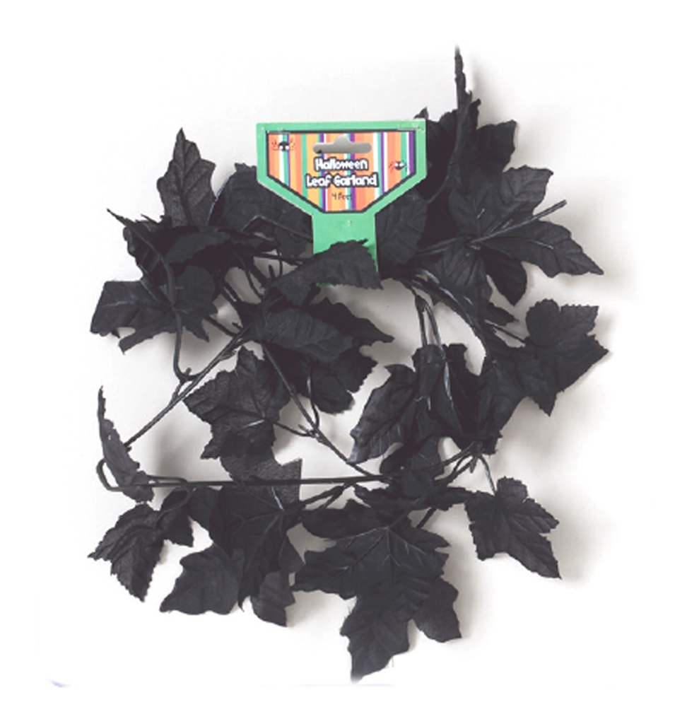 Black Leaf Garland 4ft