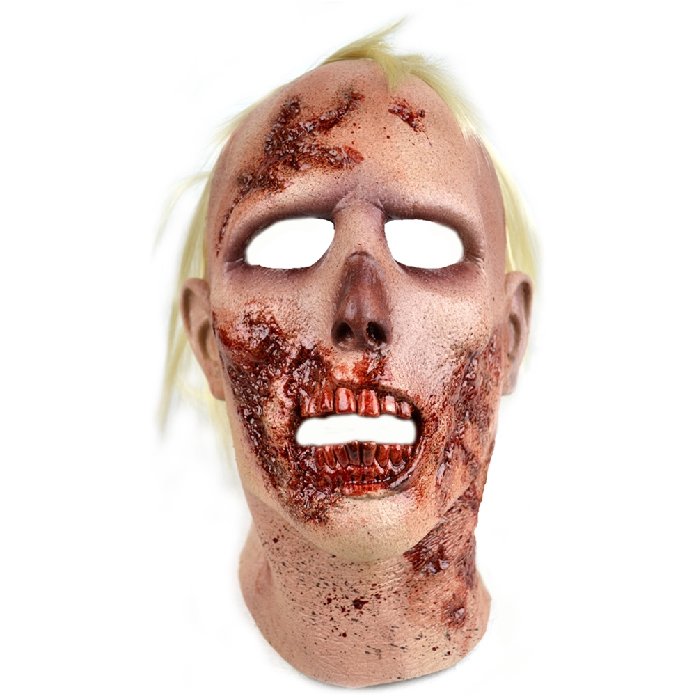 The Walking Dead Rv Screwdriver Walker Halloween Mask Brown One Size TTAMC101