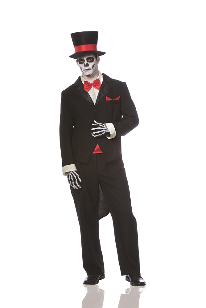 [Day of the Dead Groom Adult Mens Costume] (Dead Groom Costume)