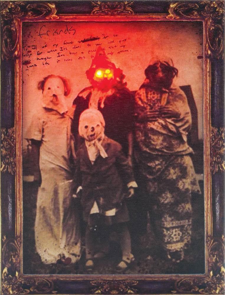 Vintage Creepy Friends Light-Up Photo