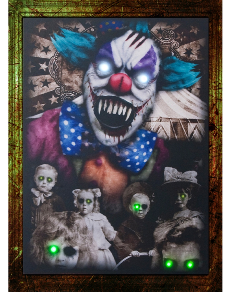 Vintage Clown Light-Up Photo