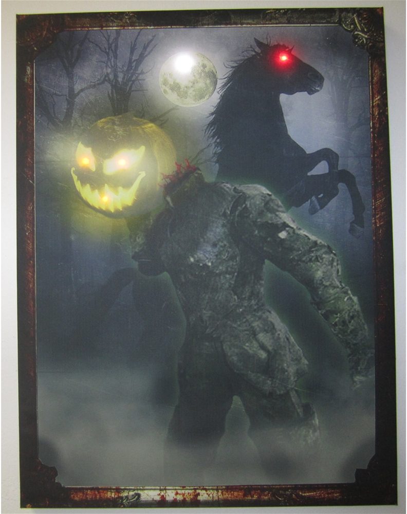 Vintage Headless Horseman Light-Up Photo