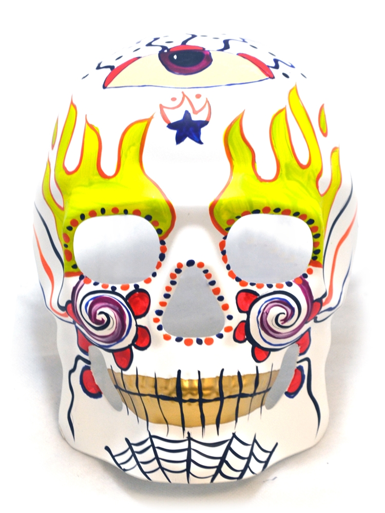 Day of the Dead Full Face Skull Mask (More Colors)