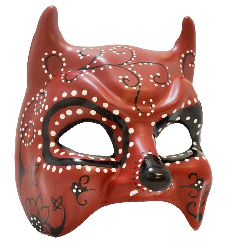 The Devil S Music De Maskers: Day Of The Dead Devil Mask - 329992