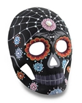 Black-Day-of-the-Dead-Mask-with-Stones