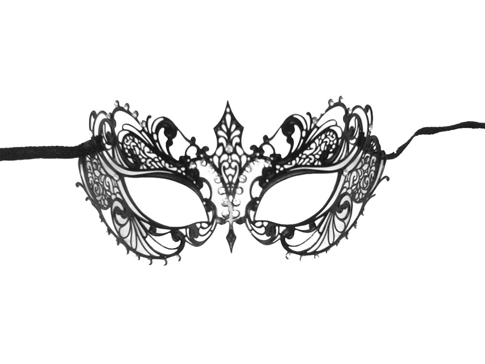 Luxury Filigree Metal Venetian Mask