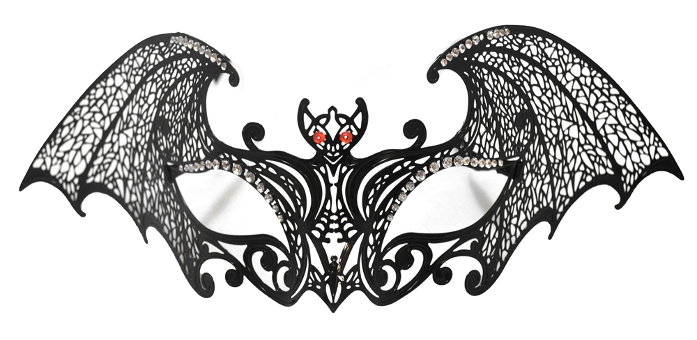 Filigree Metal Bat Eye Mask
