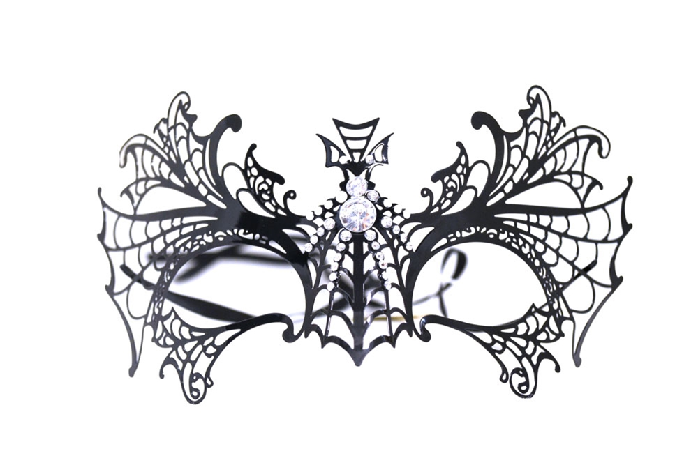 Filigree Metal Cross Eye Mask