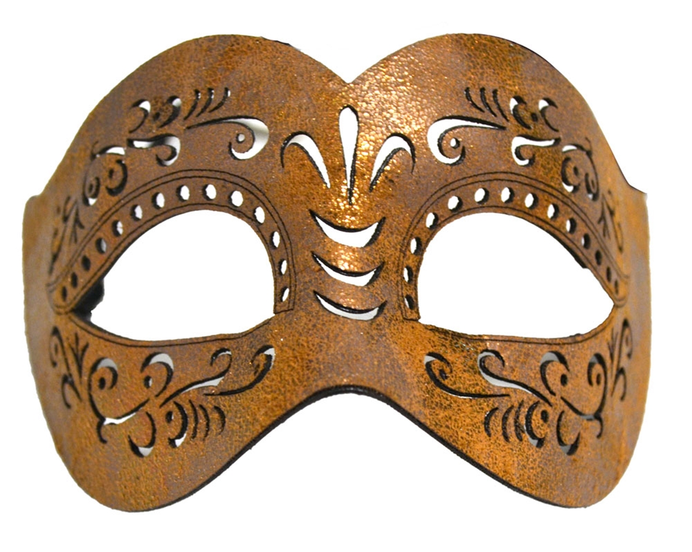 Leather Cut Venetian Mask (More Colors) by K.B.W. Global Corp