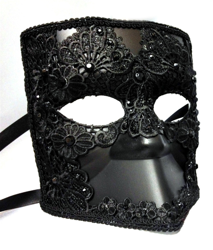 Image of Black Lace Bauta Mask