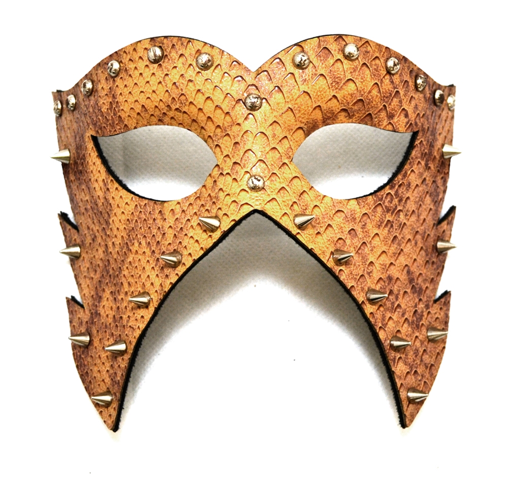 Studded & Spiked Patent Leather Mask (More Styles) by K.B.W. Global Corp