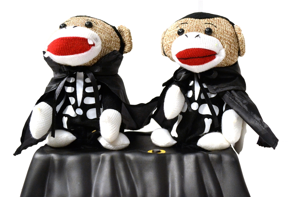 Halloween Animated Singing Sock Monkeys by Pan Asian