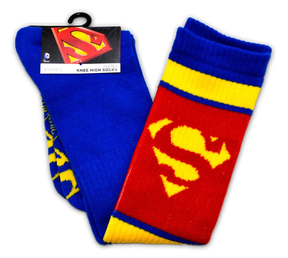 Superman Red & Blue Knee High Socks