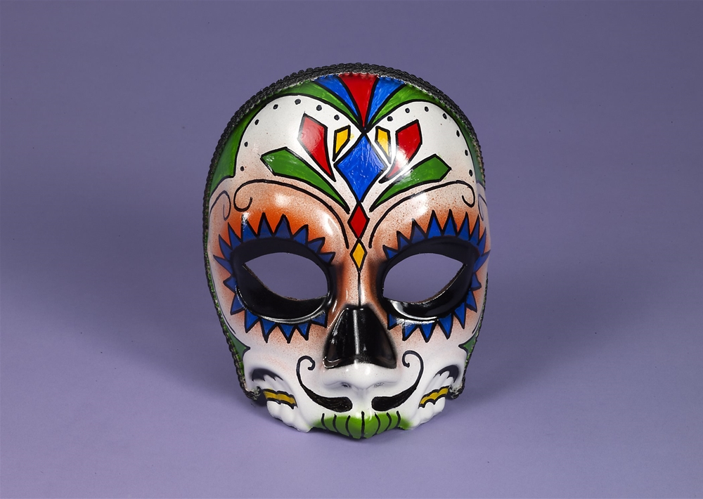 Day of the Dead Male Mask with Comfort Arms