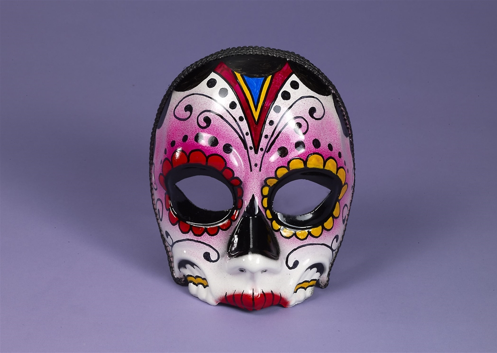 Image of Day of the Dead Female Mask with Comfort Arms