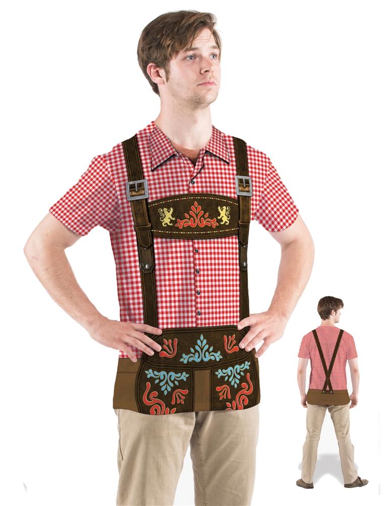 Oktoberfest Adult Mens Plaid T-Shirt