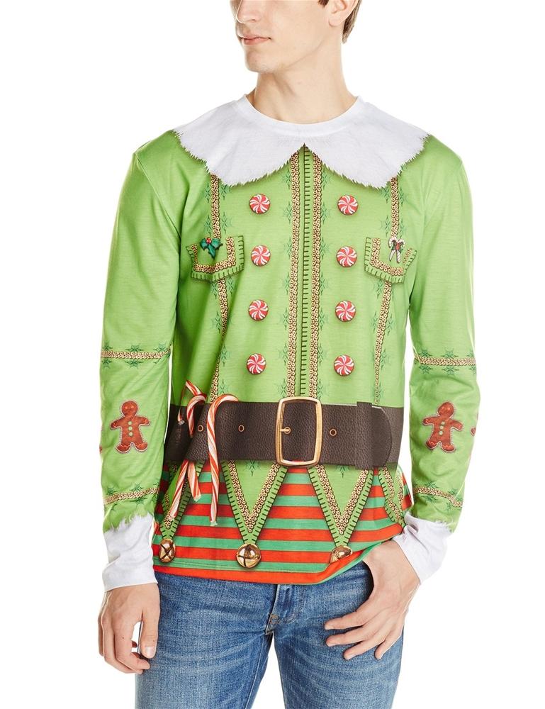 Christmas Elf Adult Mens T-Shirt