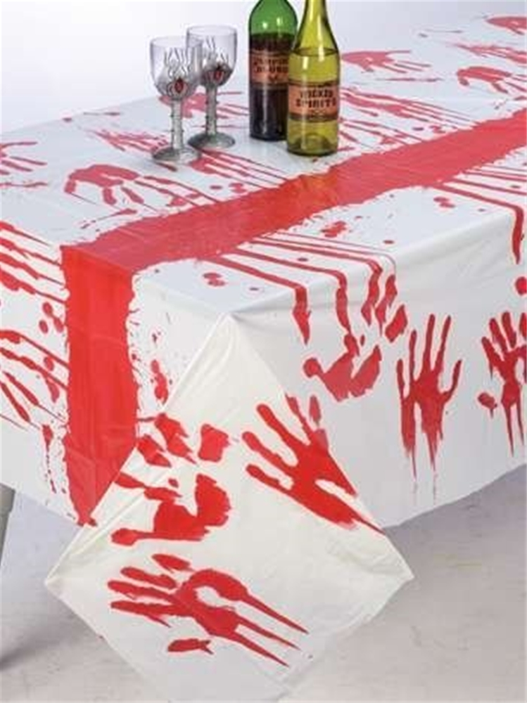 Image of Bloody Handprints Tablecloth