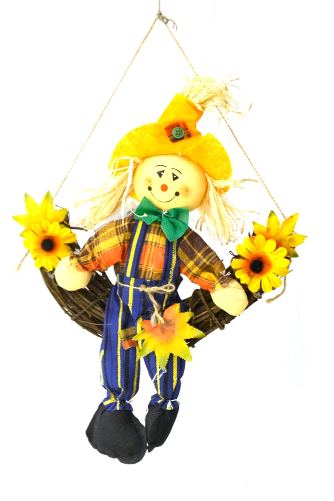 Scarecrow Wreath 12in