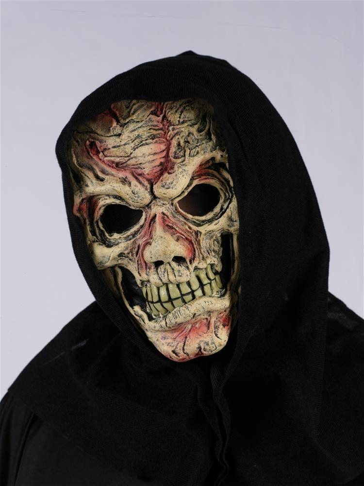 Exposed Flesh Hooded Mask