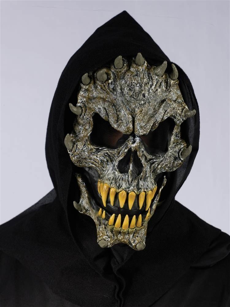 Image of Fanged Skeleton Hooded Mask