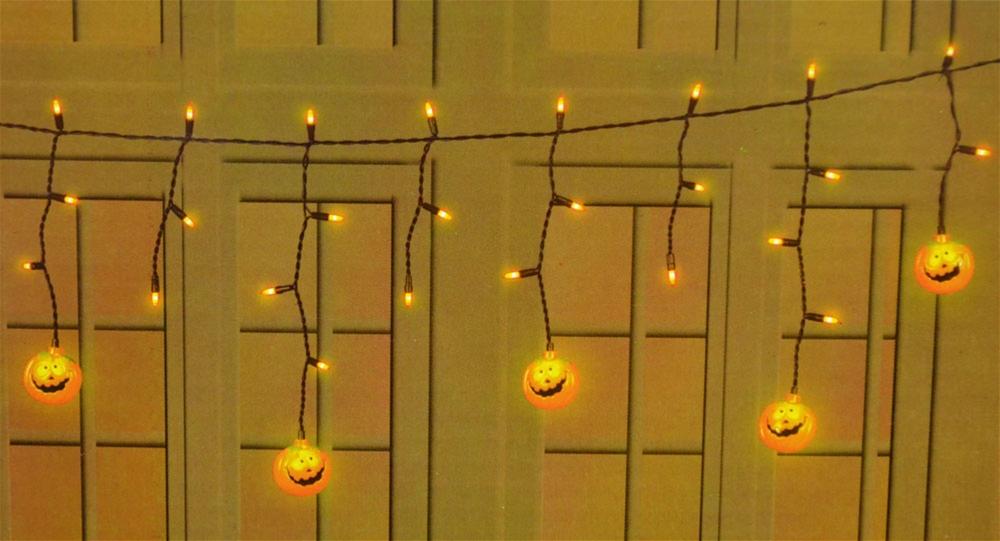 [Halloween Curtain Light Set 3ft (More Styles)] (Halloween Lighting)