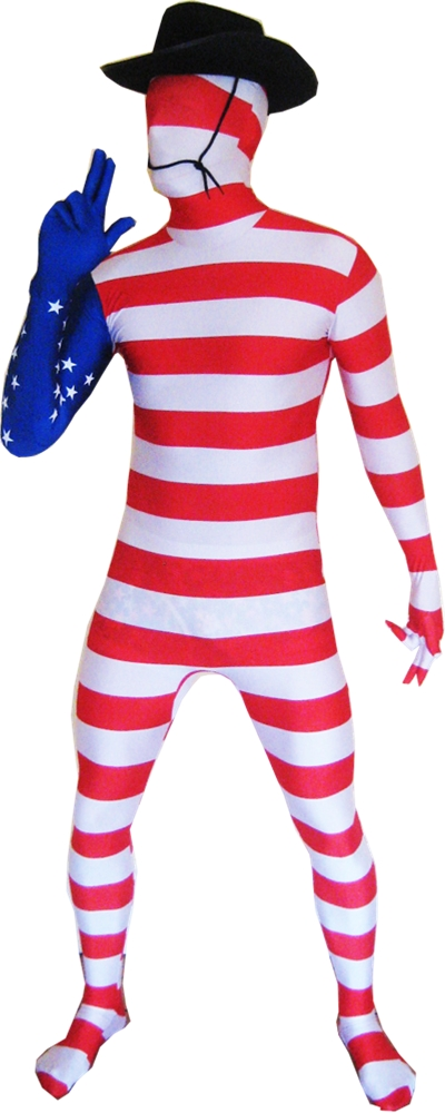 USA Flag Morphsuit Adult Unisex Costume