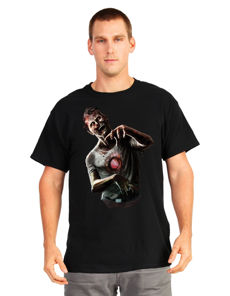 Beating Heart Zombie Digital Adult T-Shirt