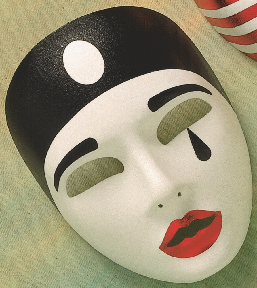 Pierrot Sad Mime Mask