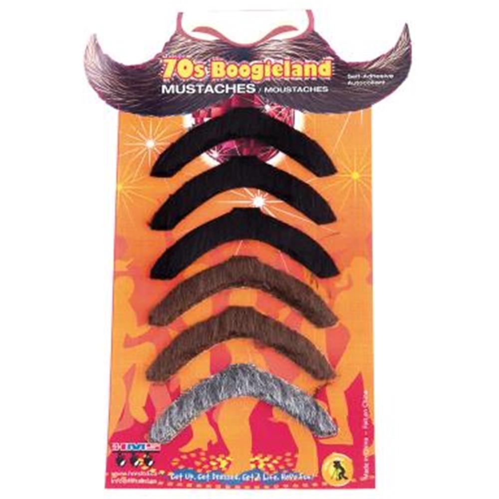 Boogie 70s Mustache 6ct