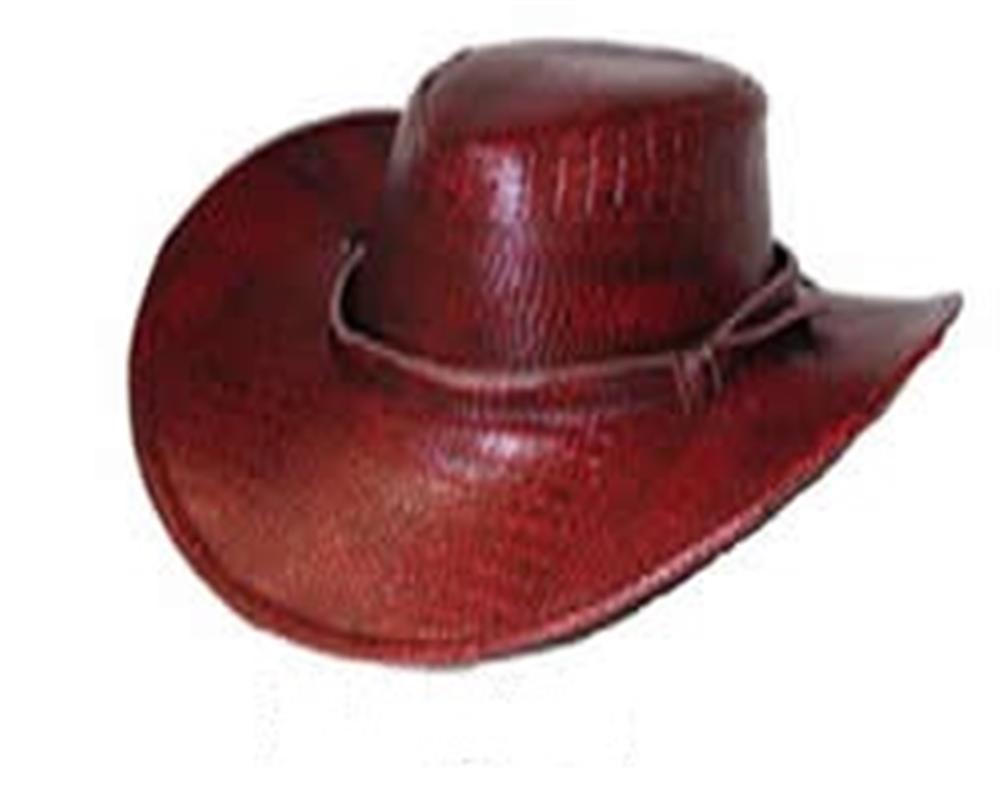 Image of Faux Crocodile Skin Cowboy Hat (More Colors)