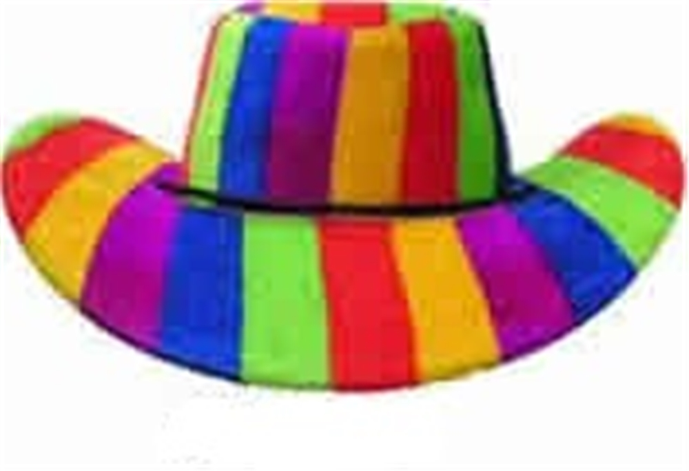 2e1087d28 Rainbow Cowboy Hat by China Products Corp - Halloween Costumes