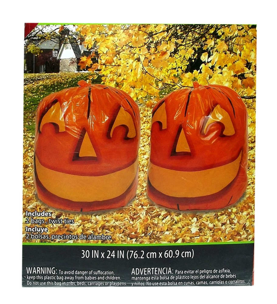 Stuff-a-Pumpkin Leaf Bags 2ct