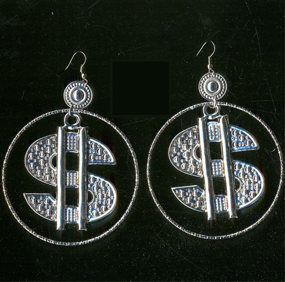 Dollar Sign Earrings by Flashback & Freedom