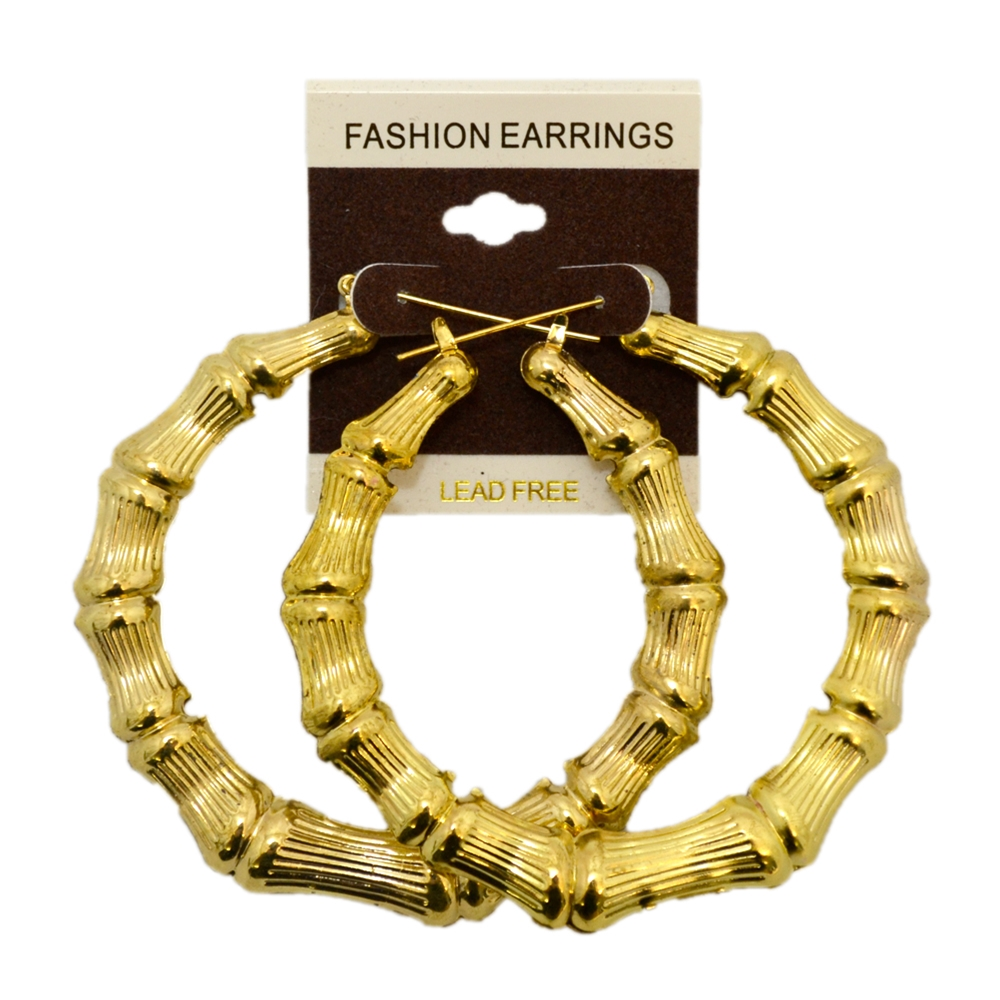 90s Large Gold Hoop Earrings