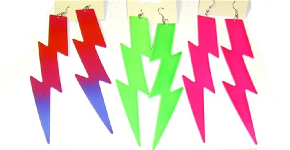 Image of 80s Lightning Bolt Earrings