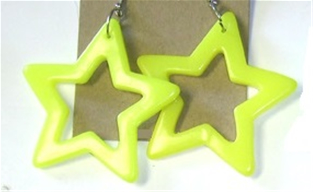 Neon Star Earrings by Flashback & Freedom