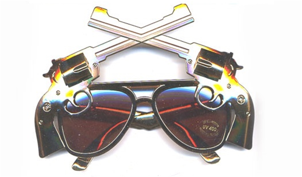 Image of Gun Shaped Sunglasses