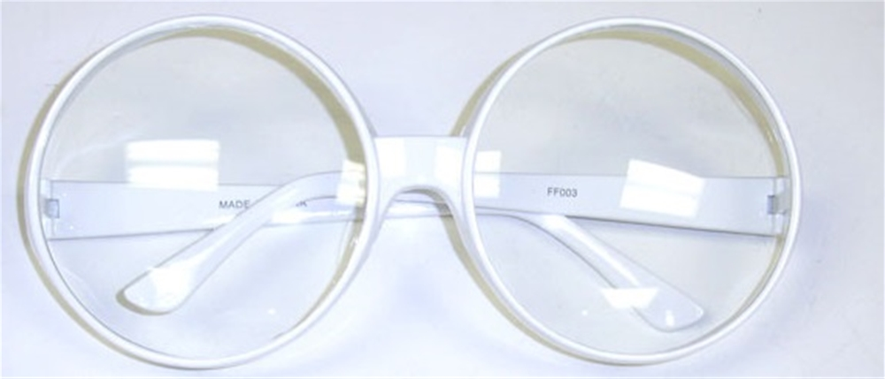 Round Glasses with Clear Lenses (More Colors)
