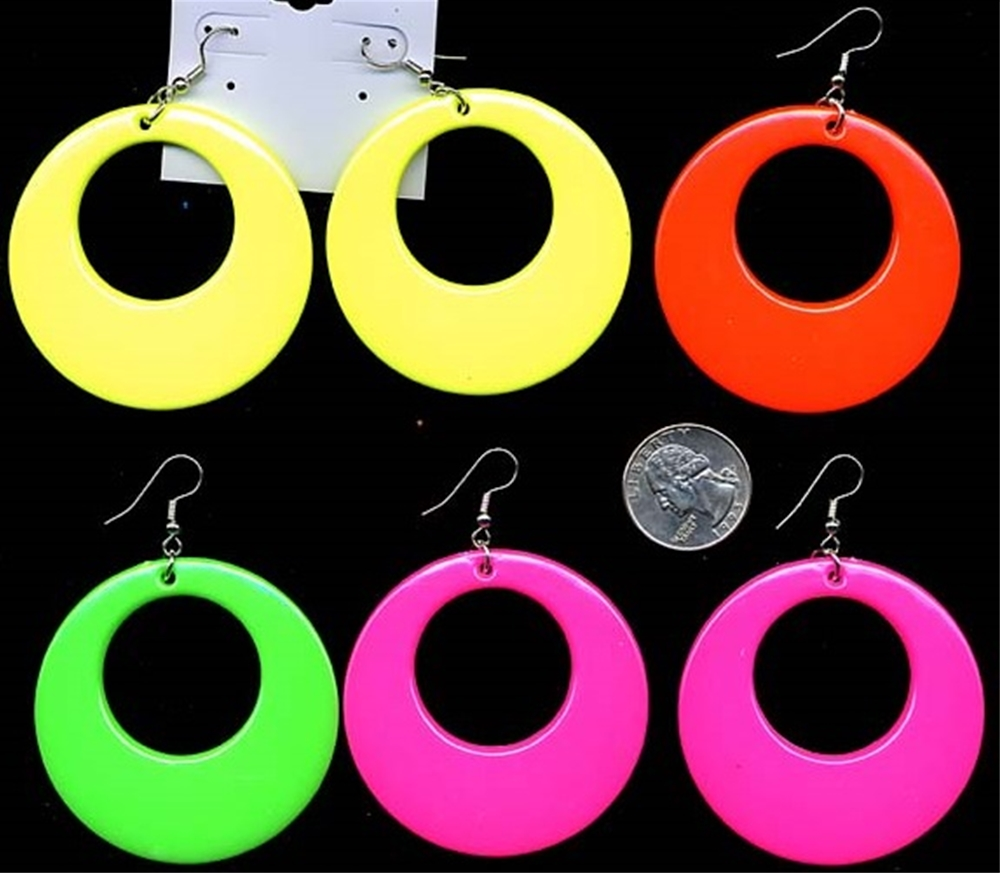 60s Go-Go Neon Earrings by Flashback & Freedom