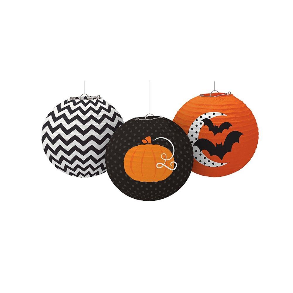 Halloween Print Paper Lanterns 3ct