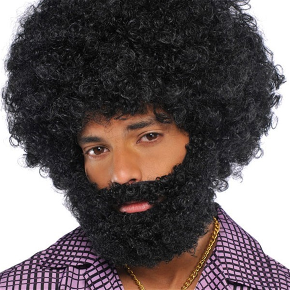 Black Afro Facial Hair Set