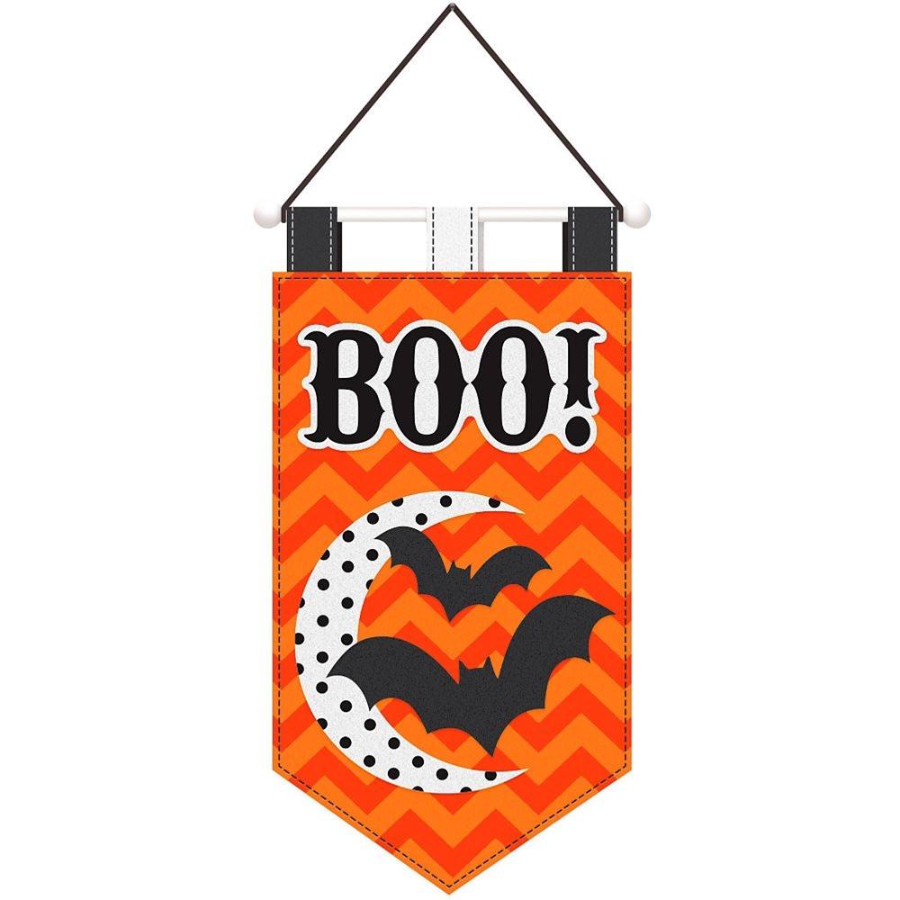 Modern Halloween Felt Door Banner by Amscan