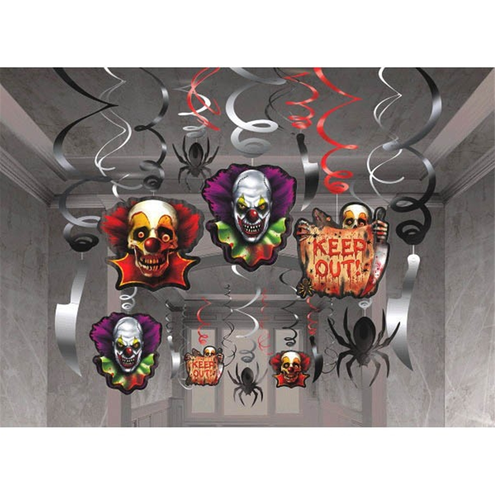 Creepy Carnival Foil Swirls Mega Value Kit