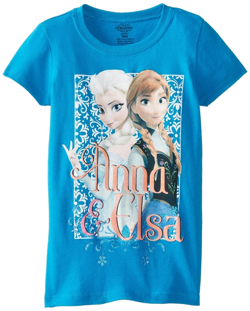 Disney Frozen Elsa & Anna Blue Child T-Shirt